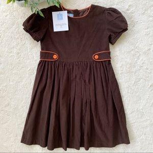Bella bliss brown orange corduroy dress buttons